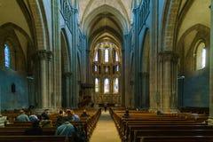 Ginebra, Suiza - 18 de octubre de 2017: Interior de St Pierre C Foto de archivo libre de regalías