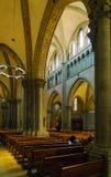 Ginebra, Suiza - 18 de octubre de 2017: Interior de St Pierre C Imagenes de archivo