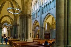 Ginebra, Suiza - 18 de octubre de 2017: Interior de St Pierre C Imagen de archivo libre de regalías
