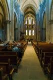 Ginebra, Suiza - 18 de octubre de 2017: Interior de St Pierre C Fotos de archivo