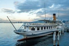Ginebra Suiza el lago Lemán General Navigation Company fotografía de archivo