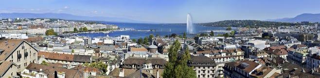Ginebra y lago Leman fotografía de archivo libre de regalías