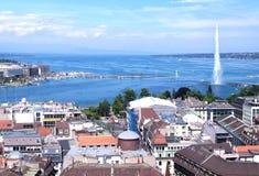 Ginebra y Leman Lake Fotos de archivo