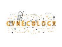 Ginecologia do conceito da medicina ilustração royalty free