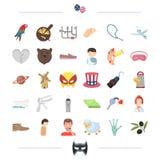 Ginecologia, negócio e o outro ícone da Web no estilo dos desenhos animados alimento, animal, ícones da medicina na coleção do gr Imagem de Stock