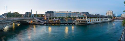 Ginevra del centro panoramica Immagine Stock