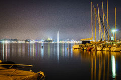 Ginevra entro Night Fotografia Stock