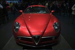 Ginevra Motorshow 2009 - ragno di Alfa Romeo 8C Fotografia Stock