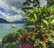 Ginevra o lago Leman, Svizzera fotografia stock