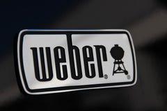 Ginevra/Svizzera 11 07 2018: Weber arrostisce col barbecue l'estate del BBQ della griglia fotografia stock libera da diritti