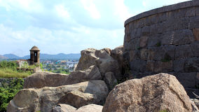 Gingee Fort battlement Royalty Free Stock Image