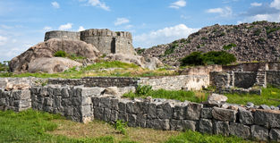 Gingee Fort Ruins. Old ruins at Gingee Fort in Tamil Nadu, India Stock Photos