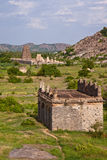 Gingee Fort Scene. Elephant stables and temple at Gingee Fort in Tamil Nadu, India Royalty Free Stock Photo