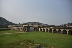 Gingee Fort or Senji Fort, Tamil Nadu. India royalty free stock photography