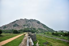 Gingee Fort, Tamil Nadu, India. Gingee Fort or Senji Fort in Tamil Nadu, India royalty free stock photos