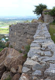 Gingee Fort wall Royalty Free Stock Images
