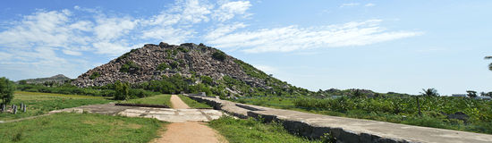 Gingee krishnagiri fort stock image