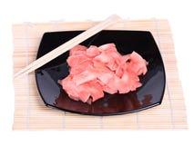 Gingembre pour des sushi Photographie stock libre de droits