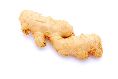 Ginger. A big fresh and healthy ginger root. Image isolated on white studio background Stock Photo