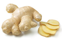 Ginger. Root SLiced isolated on white Royalty Free Stock Photography