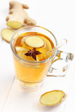 Ginger ale. Refreshing Ginger ale lemonade with anise Royalty Free Stock Photo