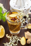 Ginger ale. Refreshing Ginger ale lemonade with anise Royalty Free Stock Images