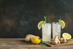 Ginger Ale ou Kombucha photos libres de droits