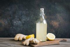 Ginger Ale ou Kombucha images stock