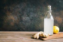 Ginger Ale ou Kombucha image stock