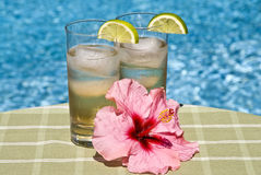 Ginger Ale in Tall Glasses Stock Image