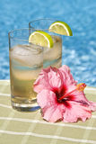 Ginger Ale in Tall Glasses Stock Photography