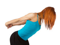 Ginger athlete is working out Royalty Free Stock Image