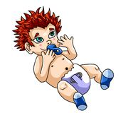 Ginger Baby Boy adorable illustration de vecteur
