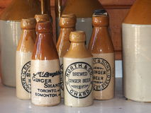 Ginger Beer Bottles antico immagini stock