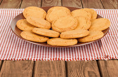 Ginger biscuits in a bowl Royalty Free Stock Photos