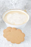 Ginger biscuits, cup of cappuccino Stock Photos