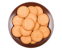 Ginger biscuits on a plate Stock Image