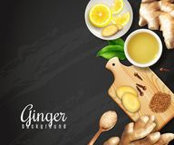 Ginger Black Background vector illustration