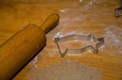 Ginger bread baking equipment Stock Photo