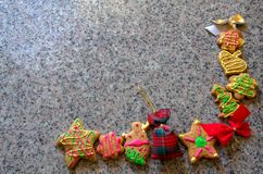 Ginger Bread Cookies Fotografia Stock Libera da Diritti