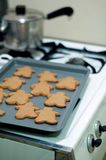 Ginger bread cookies. On top of an stove top waiting to dry Royalty Free Stock Photography