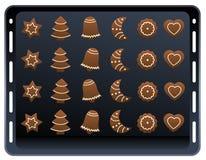 Ginger Bread Cookies Baking Plate illustration stock