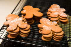 Ginger Bread Cookies Stock Photos