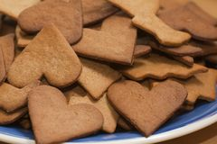 Ginger bread cookies Royalty Free Stock Image