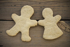 Ginger Bread Couple lizenzfreie stockbilder