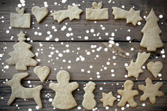 Ginger Bread Frame in the Snow Royalty Free Stock Photos