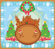 ginger-bread and funny landscape Stock Photography