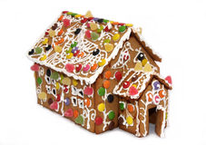 Ginger bread house. Decorated christmas gingerbread cake house Stock Photography