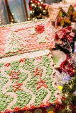 Ginger Bread Houses in Christmas Display Royalty Free Stock Photos
