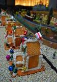 Ginger Bread Houses pendant la saison de Noël Image stock